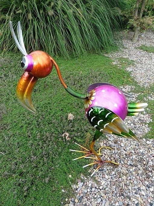 Pájaro decorativo Tucán metal, 50 cm de alto, aufwendig perfectamente. Ave del Paraíso Decoración Jardín Figura Figura de metal: Amazon.es: Jardín
