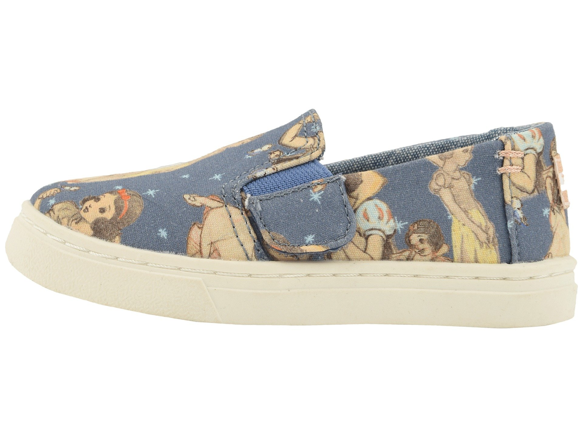 TOMS Girl's, Luca Slip on Shoes Blue 4 M by TOMS Kids (Image #6)