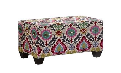 Attractive Skyline Furniture Storage Bench Santa Maria Desert Flower