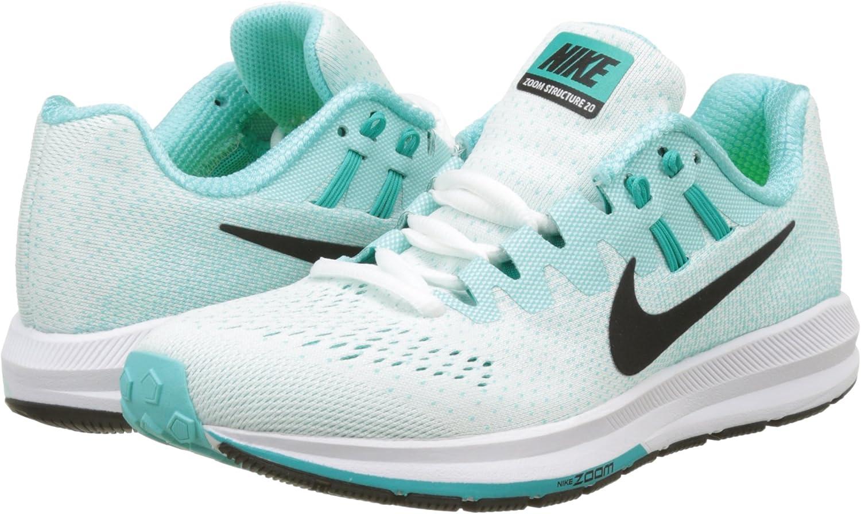 Nike Wmns Air Zoom Structure 20, Zapatillas de Running para Mujer, Turquesa (White/Black/Aurora Green/Clear Jade/Igloo), 36.5 EU: Amazon.es: Zapatos y complementos