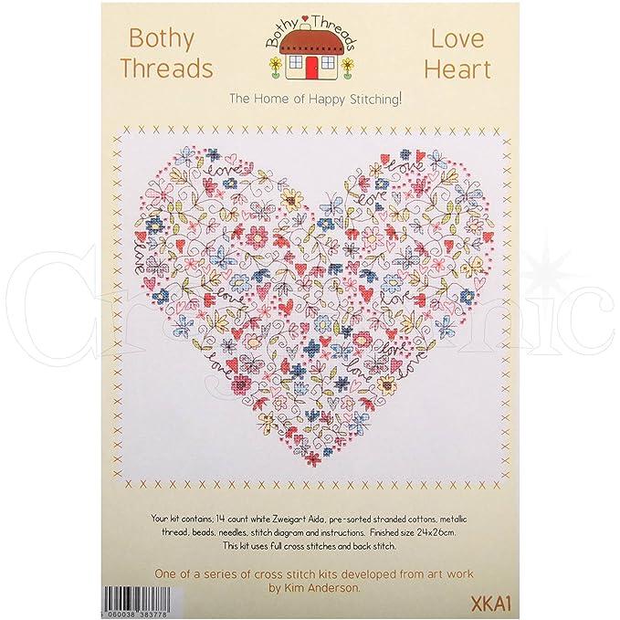 Bothy Threads Stickbild-Set – Love Herz: Amazon.de: Spielzeug