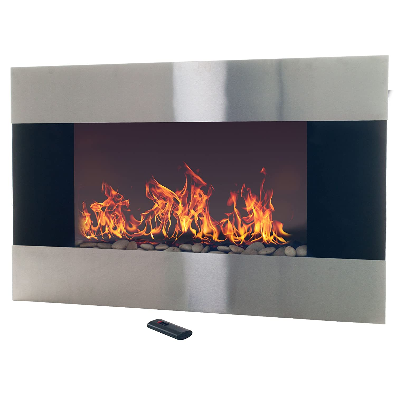 Amazon Com Northwest Stainless Steel Electric Fireplace With Wall