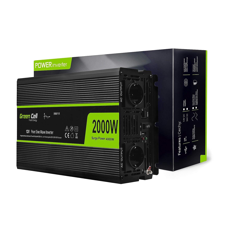 230V 2000VA-3000VA Alimentation d/énergie Non interruptible Line-Interactive Power Supply USB//RJ45 4X Schuko USB Affichage LED Green Cell/® UPS USV Onduleur 2000VA 1200W