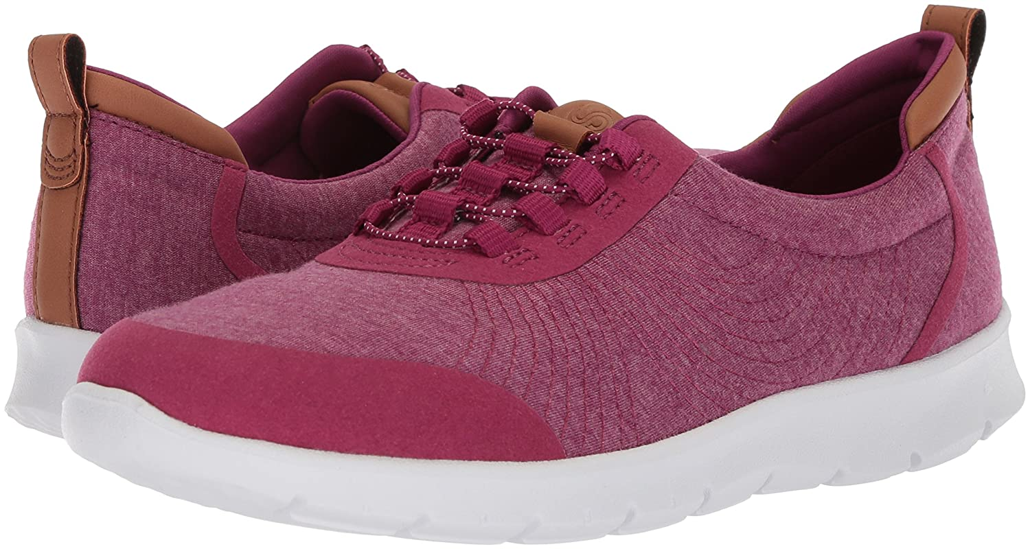 CLARKS Women's Step Fuchsia Allenabay Sneaker B07852Z27V 95 W US|Deep Fuchsia Step Heathered Fabric 29e481