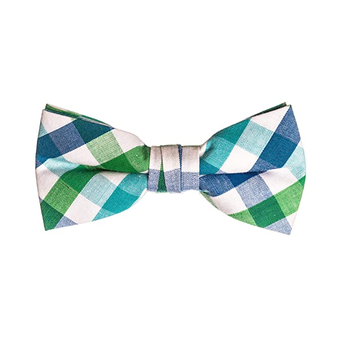 Green and Navy Bow Tie Toddler Kids