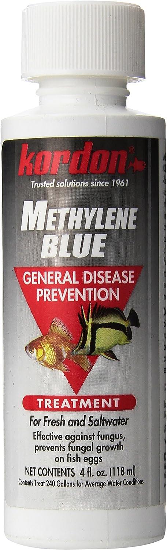 Kordon #37344 Methylene Blue-General Disease Prevention Treatment for Aquarium, 4-Ounce, Blues & Purples