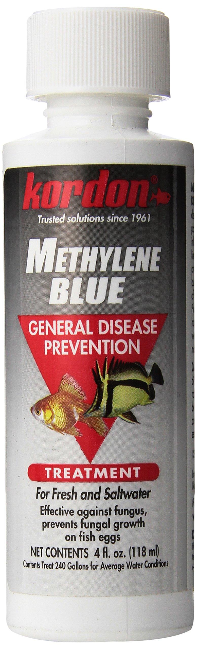 Kordon 37344 Methylene Blue-General Disease Prevention Treatment for Aquarium, 4-Ounce,