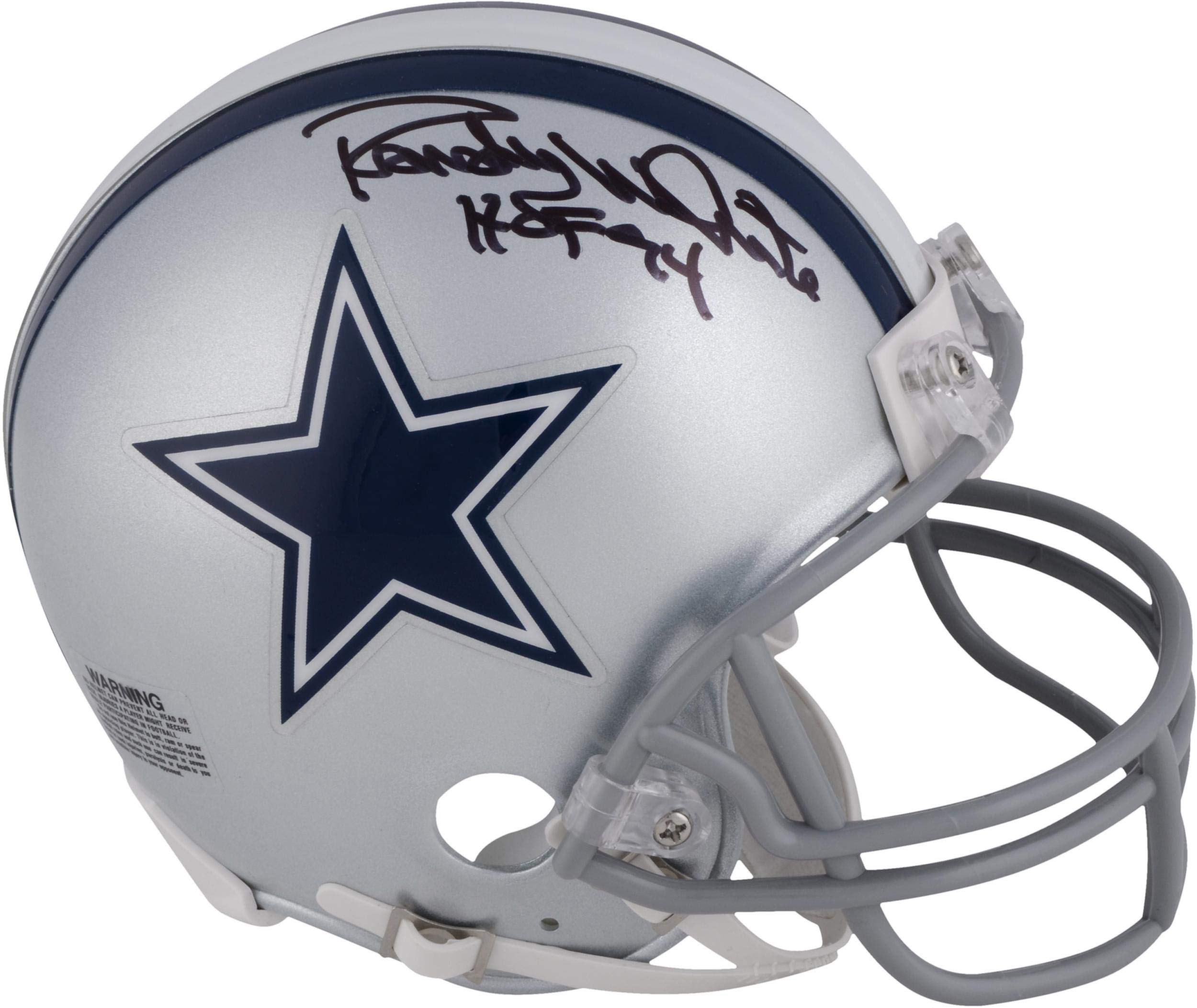 Randy White Dallas Cowboys Autographed Mini Helmet with HOF 1994 Inscription Fanatics Authentic Certified