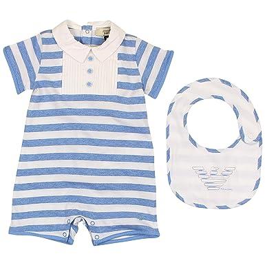 Räumungspreis genießen Kauf echt Temperament Schuhe Armani Baby Strampler set blau 3M: Amazon.de: Bekleidung