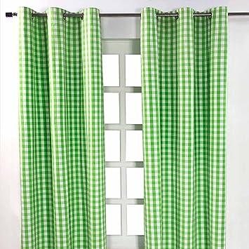 Breite x L/änge je Vorhang 100/% reine Baumwolle Homescapes Kindervorhang Junge Kinderzimmer /Ösenvorhang Dekoschal Stars 2er Set gr/ün 117 x 137 cm