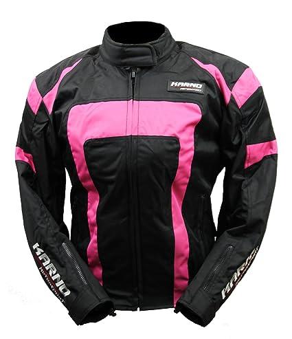 KT021 chaqueta moto mujer Lady Spirit Pink Rosa Fluo: Amazon ...
