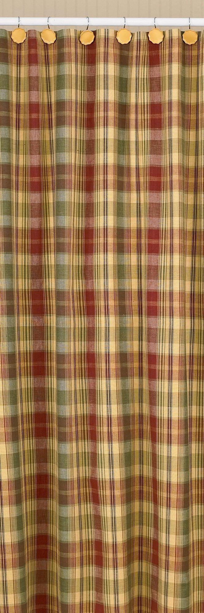 Park Designs ''Saffron'' Country Shower Curtain 72''x72''