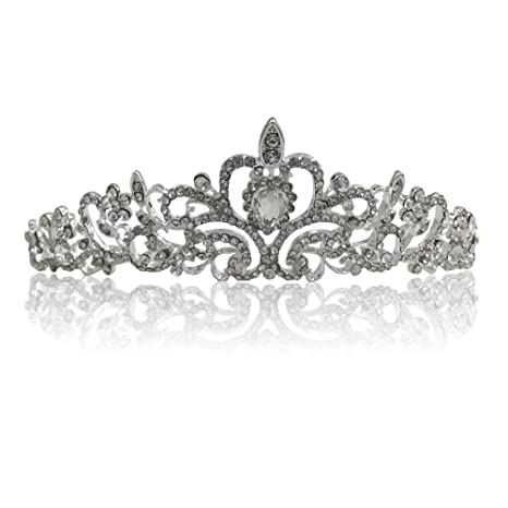 Katara 1738 - Corona con cristalli Tiara Nuziale Matrimonio Diadema da  Sposa Regina Principessa per Bambina 551192467826