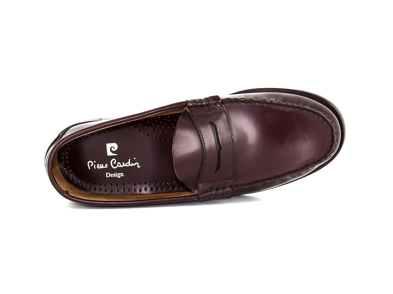 Pierre Cardin - Mocasines de Otra Piel Hombre, rojo (rojo), 46 EU: Amazon.es: Zapatos y complementos