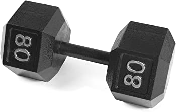 CAP Barbell Cast Iron Hex 80 Pounds Dumbbell