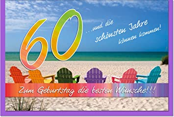Metalum Premium Glückwunschkarte Zum 60. Geburtstag Mit Hochwertiger  Metallverzierung