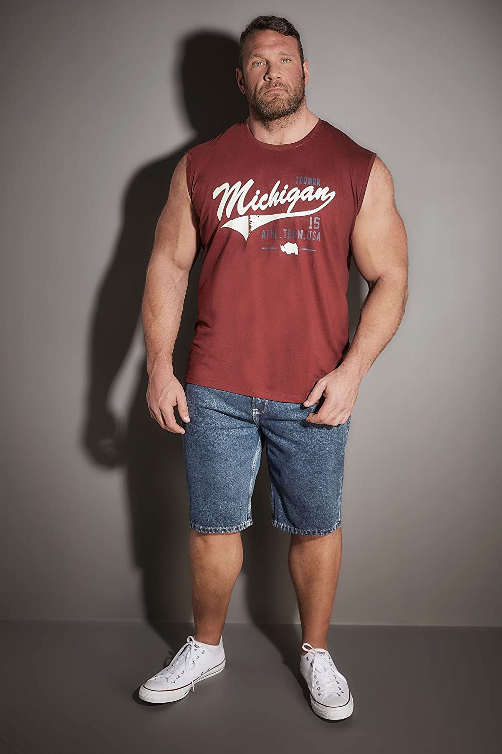 Badrhino Mens Burgundy \'Michigan\' Muscle Vest Size XLT Red at Amazon ...