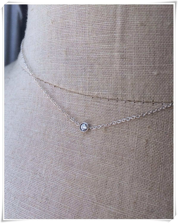 Diamante Bisel Colgante, diamante solitario