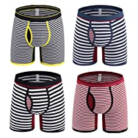 Okany Cotton Boxer Briefs Sports Pack for Men, Underwear Men Pack