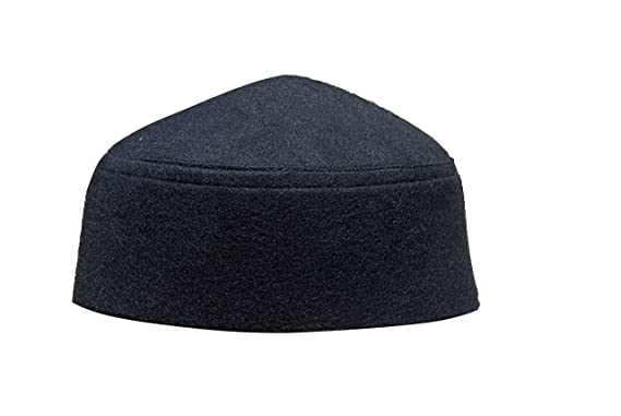 5981b3f0359 TheKufi Solid Black Moroccan Fez-Style Kufi Hat Cap w Pointed Top ...