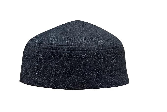 677da6d6c Amazon.com: Solid Black Moroccan Fez-style Kufi Hat Cap w/ Pointed ...