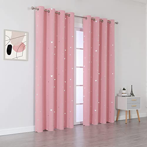 SMILEWEAVER Pink Blackout Curtains Review
