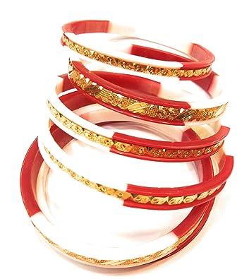 Bracelets Indian Bengali Women High Quality Gold Plated Pola Bangles Set Of 2 Jewellery