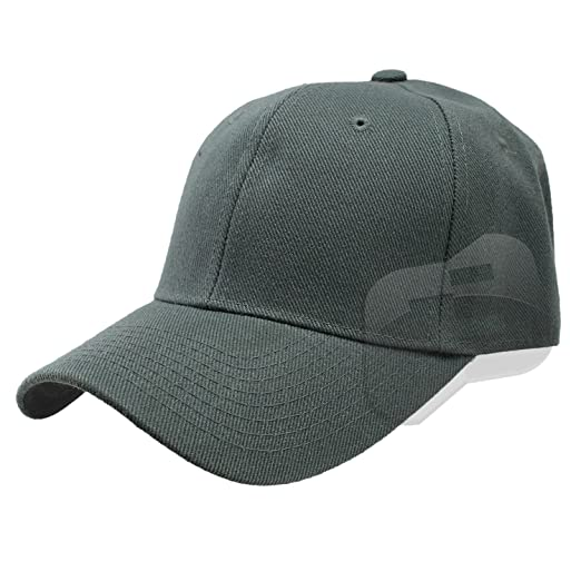 Enimay Baseball Hats Caps Curved Bill Solid Color No Logo Charcoal ... 45d810ca032