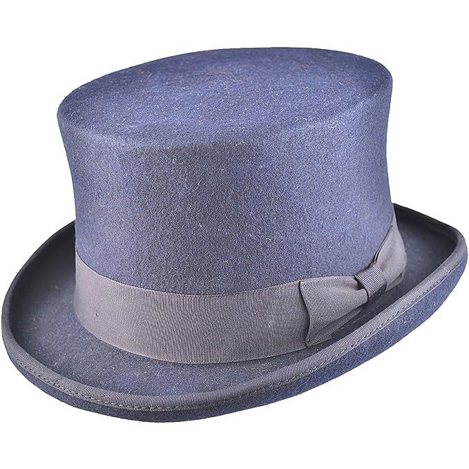 Desconocido Lana Sombrero de Copa - - - - Forrado de Raso en Caja: Amazon.es: Ropa y accesorios