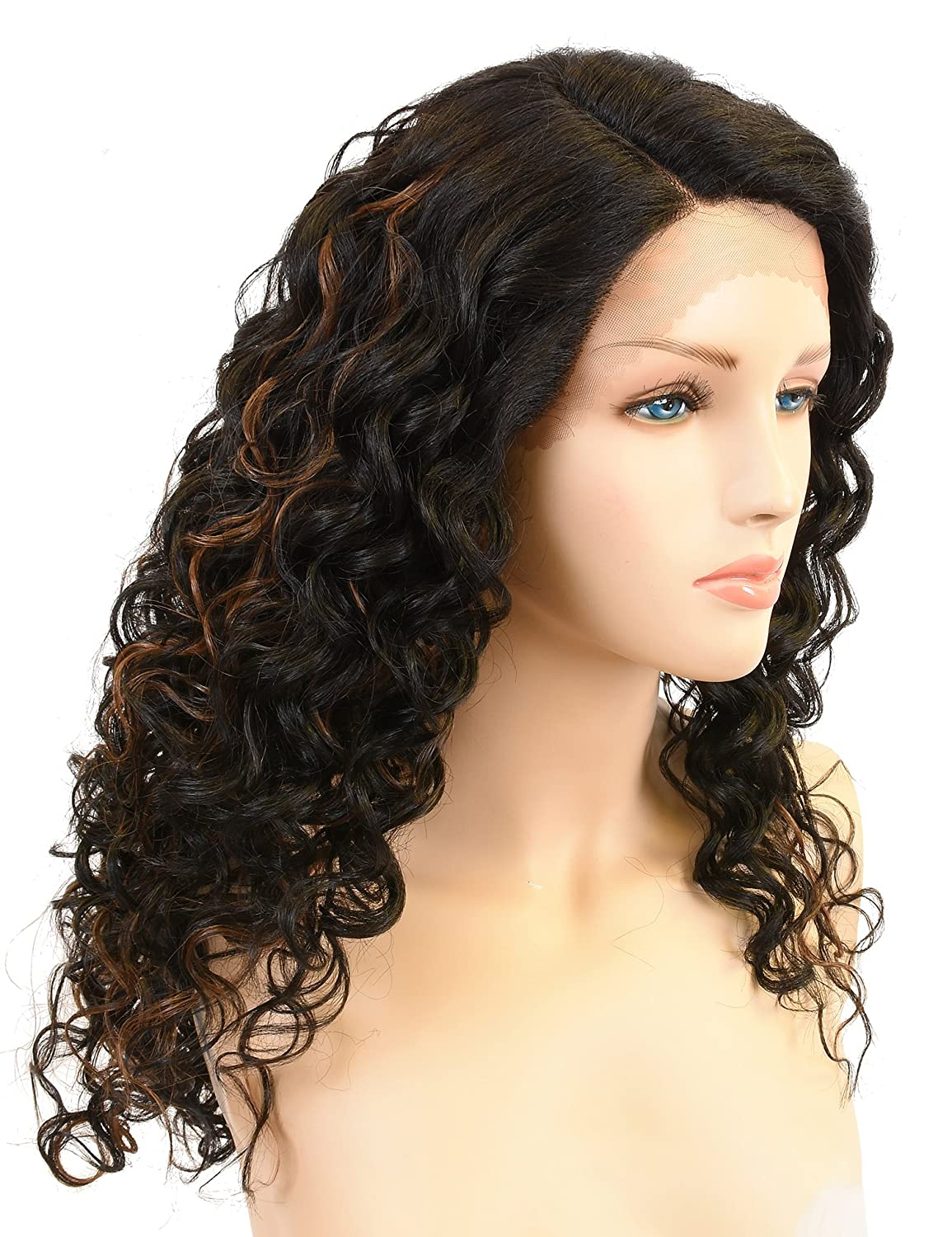 Long Afro Kinky Curly Lace Front Wigs,L Part Heat ...