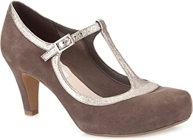Clarks Chorus Thrill, Scarpe col Tacco Donna, Taupe Combi