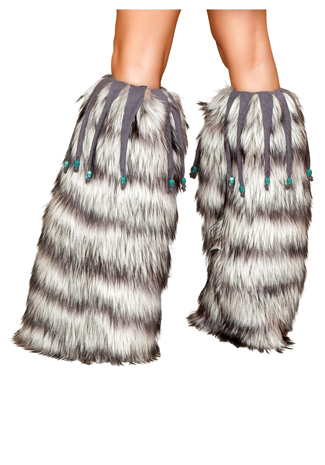 Fur Leg Warmers with Beads Standard
