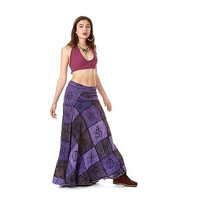 Altshop - Falda Larga para Mujer, diseño de Patchwork, Estilo Hippy: Ropa y accesorios