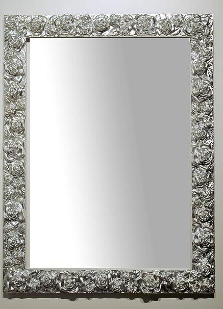 Specchio da Parete con Cornice Foglia Argento cm. 62x82. Made in ...