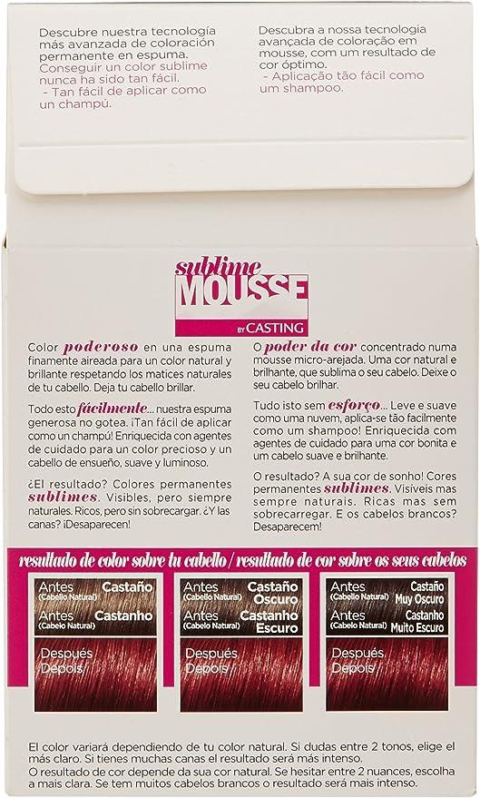 LOréal Paris Sublime Mousse Coloración Permanente, Tono: 565 Rojizo Atrevido