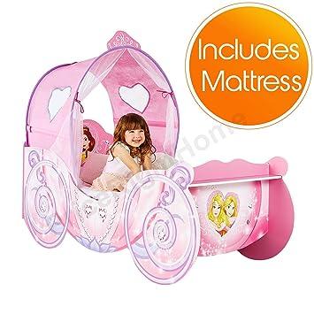 Disney Princess Carriage Feature Kleinkindbett Plus Voll Gefederte Matratze
