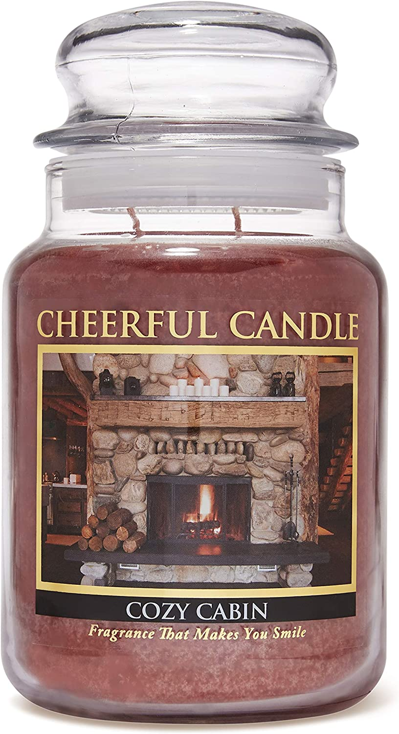 Cozy Cabin 16oz Soy Candle by Home Scents Candle Company