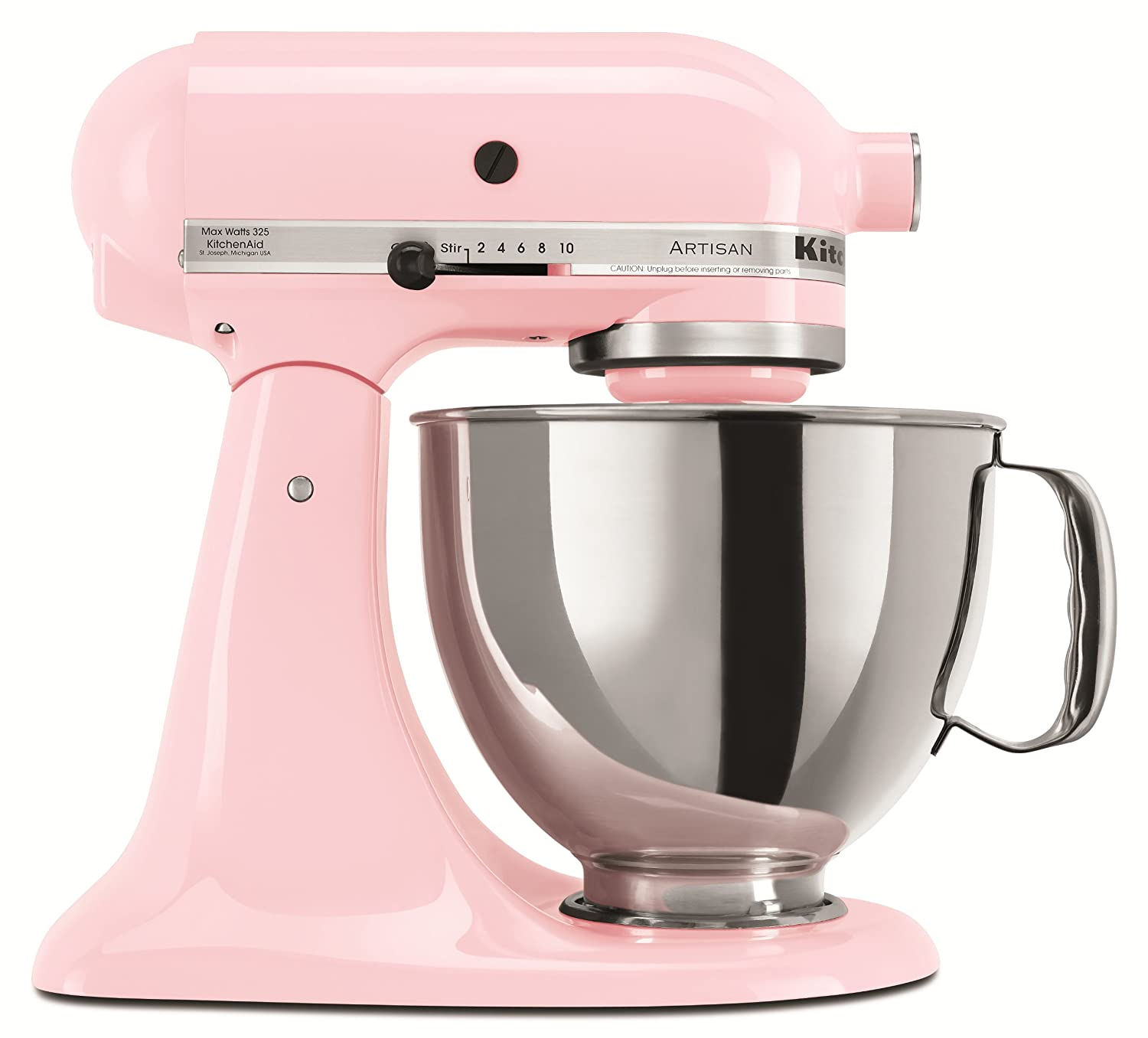 Amazon.com: KitchenAid KSM150PSPK Artisan Series 5-Qt. Stand Mixer ...