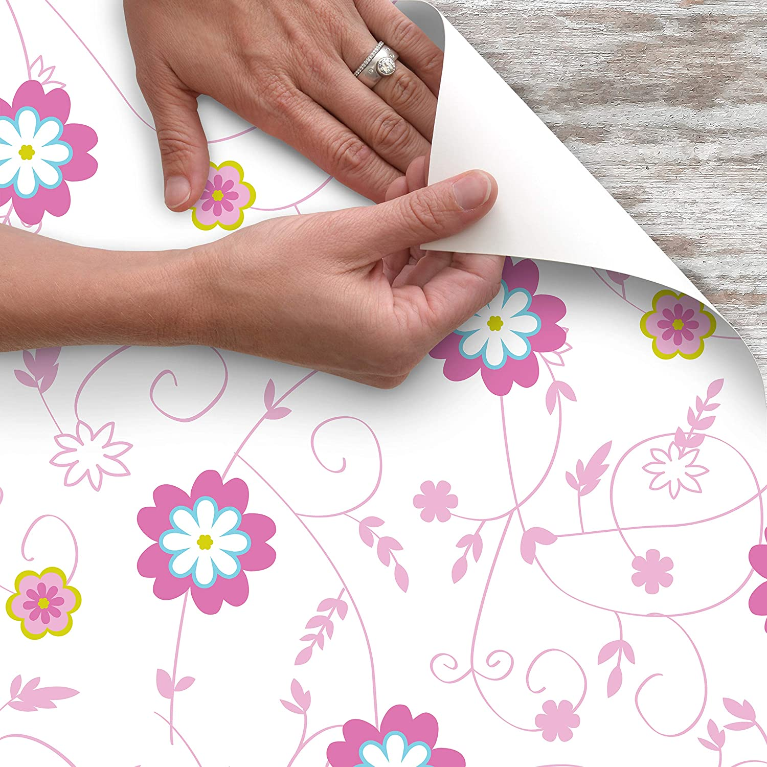 """Premium Contact Adhesive Vinyl Shelf Liner 18/""""x9/' Dotted Pink Free Shipping"""