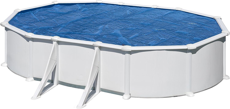 Gre CPROV510 - Cobertor de Verano para Piscina Ovalada de 485 x 335 cm, Color Azul