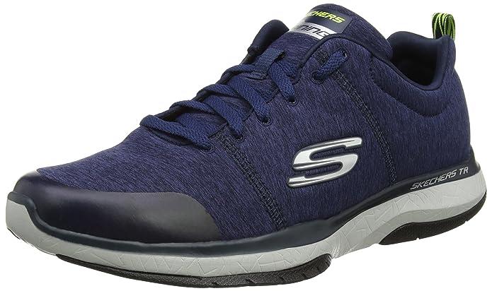Skechers Go Walk 4, Zapatillas para Hombre, Gris (Charcoal/Orange), 45.5 EU