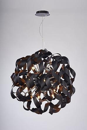 NOVA Designer Wohnzimmerlampe Halogen Schwarz Hhenverstellbar Dimmbar G9 Fassung
