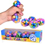 Special Supplies DNA Squish Stress Ball (4-Pack) Squeeze, Color Sensory Toy - Relieve Tension, Stress - Home, Travel and…