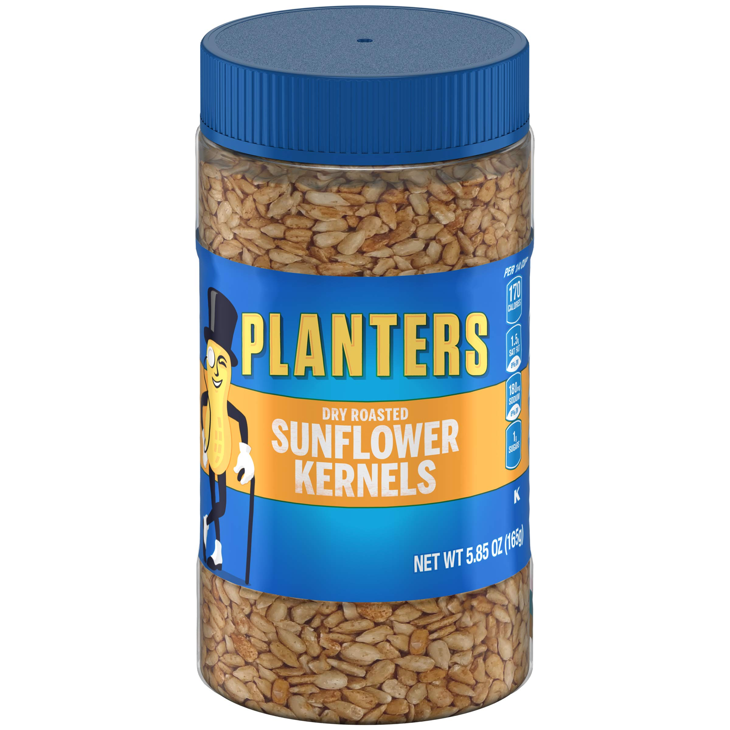 Planters Dry Roasted Sunflower Kernels (5.85 oz Canisters, Pack of 12) by Planters