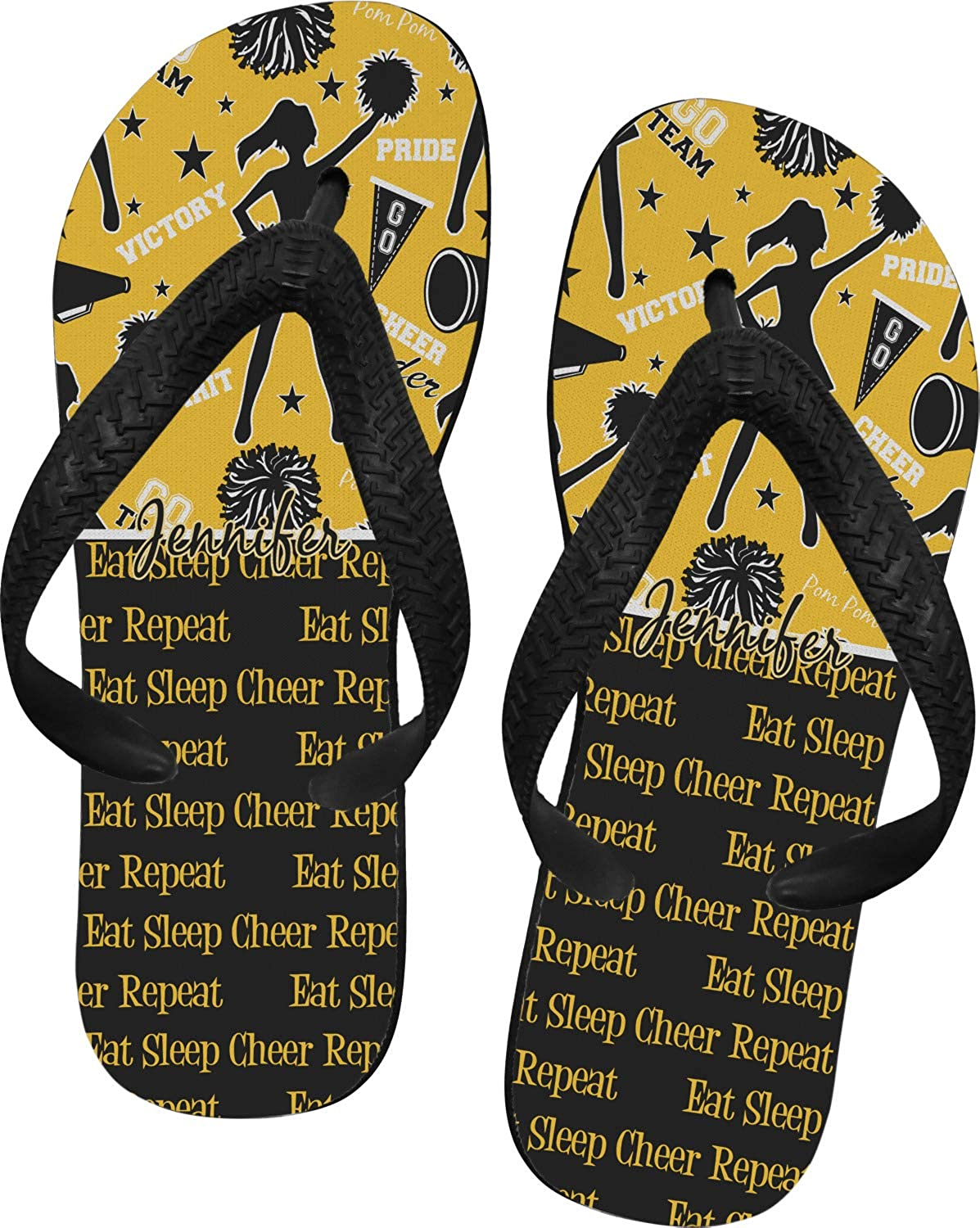 RNK Shops Cheer Flip Flops Personalized
