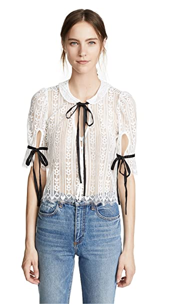 Amazoncom For Love Lemons Womens Dakota Lace Blouse