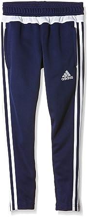 Adidas S27125, pantalones chándal niño, Azul (dark blue/white ...