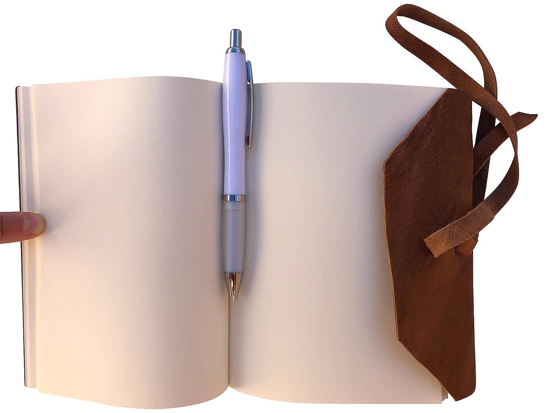 Quaderno Agenda Diario Libro muto rivestito in vera pelle effetto stropicciato vintage fatto a mano in Italia Made in Italy