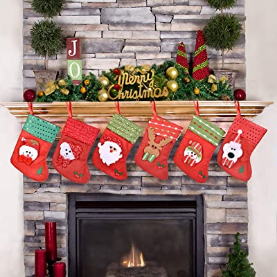 FUN LITTLE TOYS 6Pcs Christmas Stocking Gifts T...