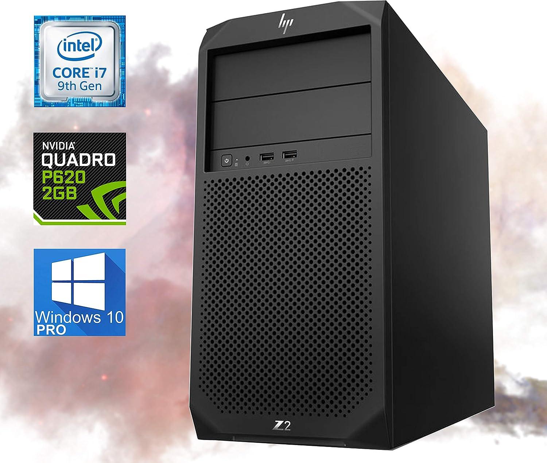 HP Z2 G4 Workstation Tower - 9th Gen Intel Core i7-9700 Upto 4.70 GHz - 32GB RAM, 2TB NVMe SSD – 2GB Quadro P620 4K 4-Monitor Support, Mini DisplayPort, HDMI, AC Wi-Fi, Bluetooth - Windows 10 Pro